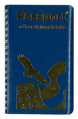 Blue national park passport book