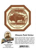Yellowstone sticker depicting bison