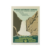 Yellowstone Poster of WPA Falls