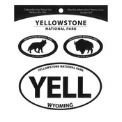 Trio of Yellowstone oval stickers