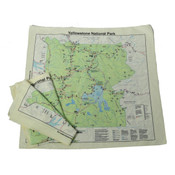 Yellowstone map printed on bandana