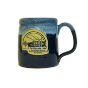 Stoneware mug made of blue pottery