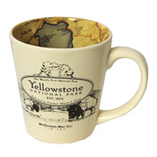 Yellowstone coffee mug map design