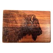 Cutting board in shape of bison