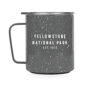 gray speckle camp cup