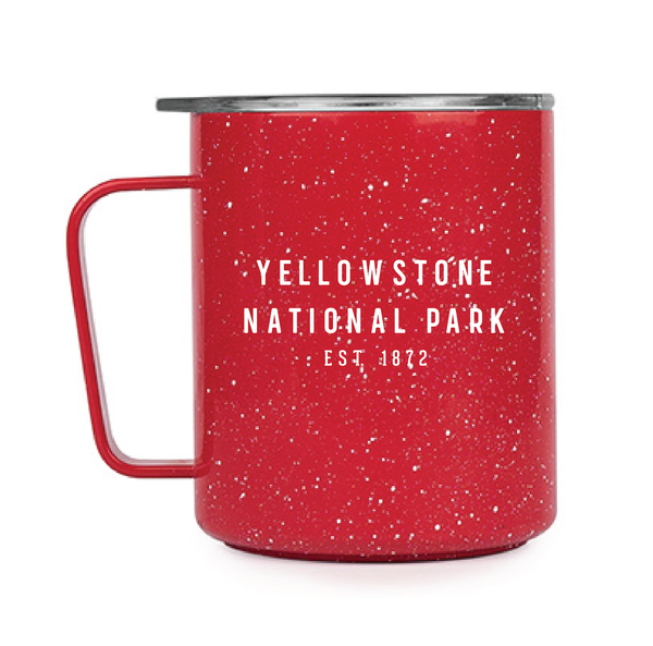 red speckle camp cup